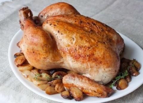 crispy-roast-chicken-with-garlic