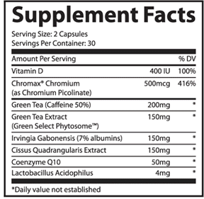 lipofuze-supplement-facts