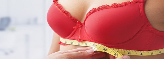 размер груди девушки