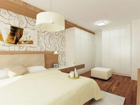 creme-color-small-bedroom-design