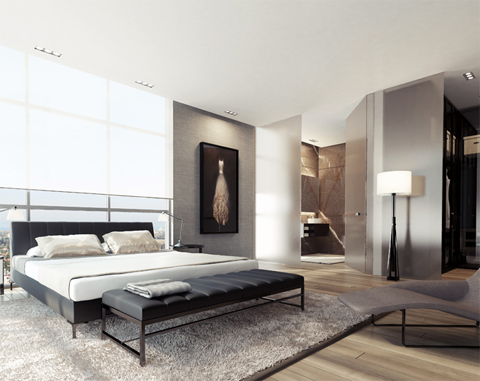 bedroom-decor-black-white-gray