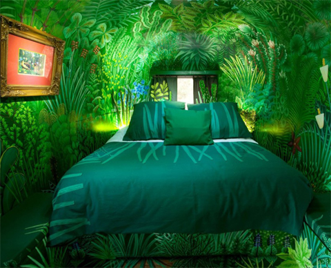 bedroom-forest-green