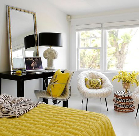 bedroom-yellow-and-black