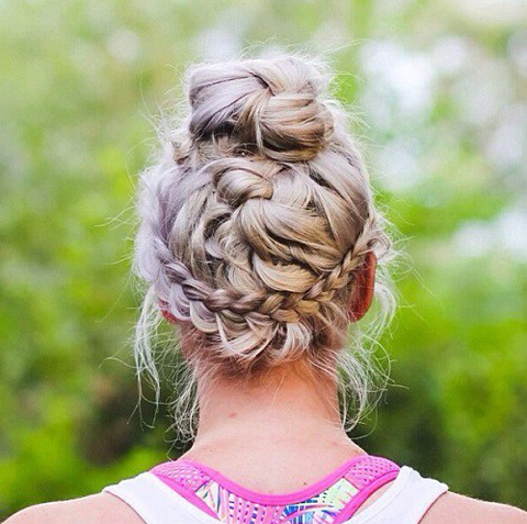 braids-and-bun-messy-updo