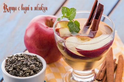 ceylon-cinnamon-with-water-and-apple