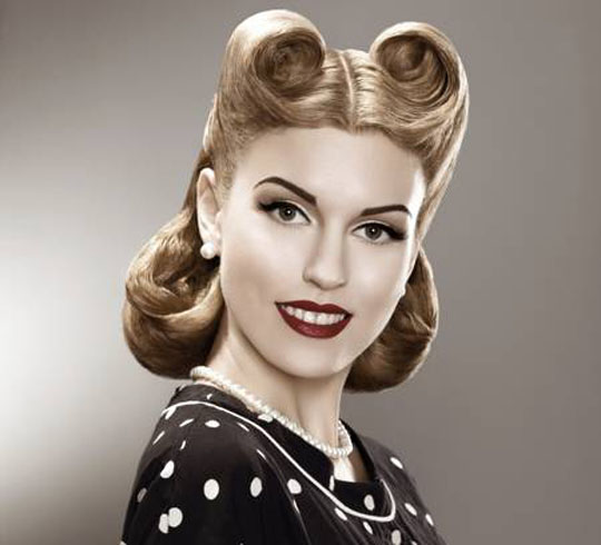 50's-style-parting-and-curls-hairstyle-retro-woman