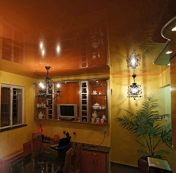glossy-ceilings-in-the-kitchen