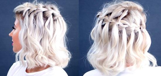 косы на короткие волосы своими руками