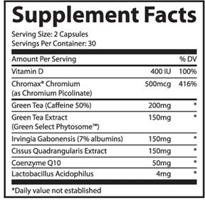 lipofuze-supplement-facts