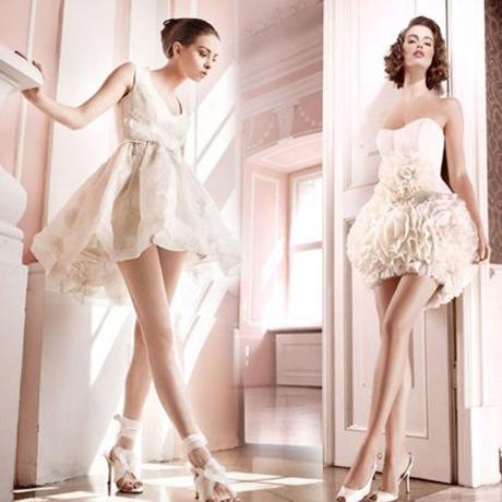необычные короткие свадебные платья