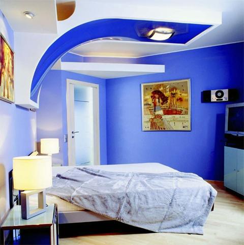 синие стены