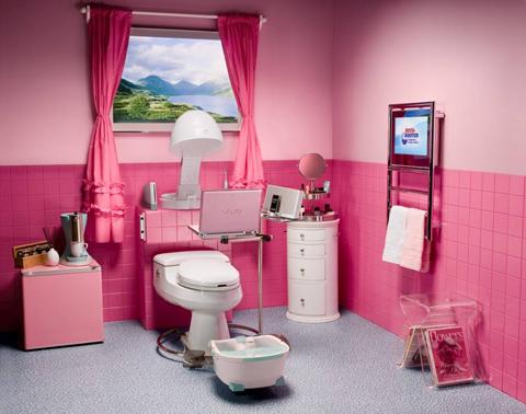 decorate-pink-bathroom-sink-toilet-and-tub