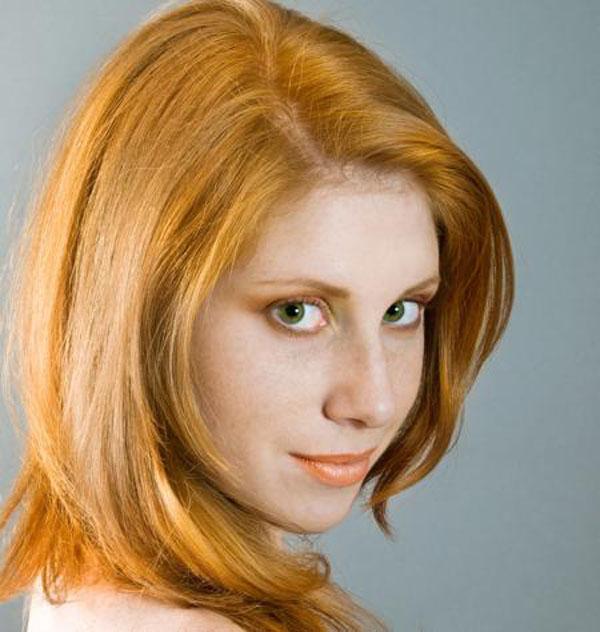 ярко оранжевый цвет волос