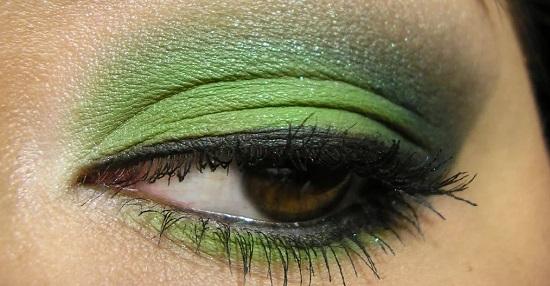 макияж зелень