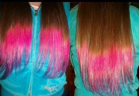 необычное сочетание цвета волос